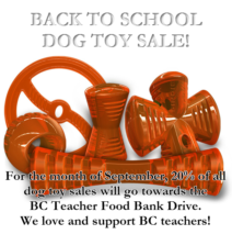 BACK TO SCHOOL DOG TOY SALE!